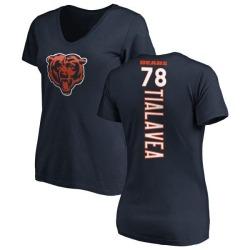 Women's D.J. Tialavea Chicago Bears Backer Slim Fit T-Shirt - Navy