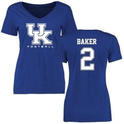 Women's Dorian Baker Kentucky Wildcats Football Slim Fit T-Shirt - Royal