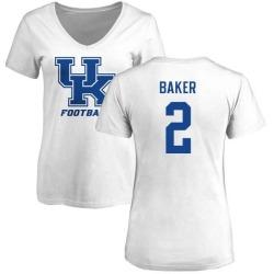 Women's Dorian Baker Kentucky Wildcats One Color T-Shirt - White