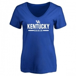 Women's Dorian Baker Kentucky Wildcats Sport V-Neck T-Shirt - Royal
