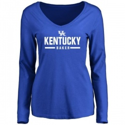 Women's Dorian Baker Kentucky Wildcats Sport Wordmark Long Sleeve T-Shirt - Royal
