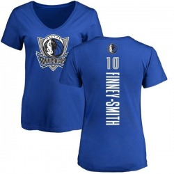 Women's Dorian Finney-Smith Dallas Mavericks Royal Backer T-Shirt