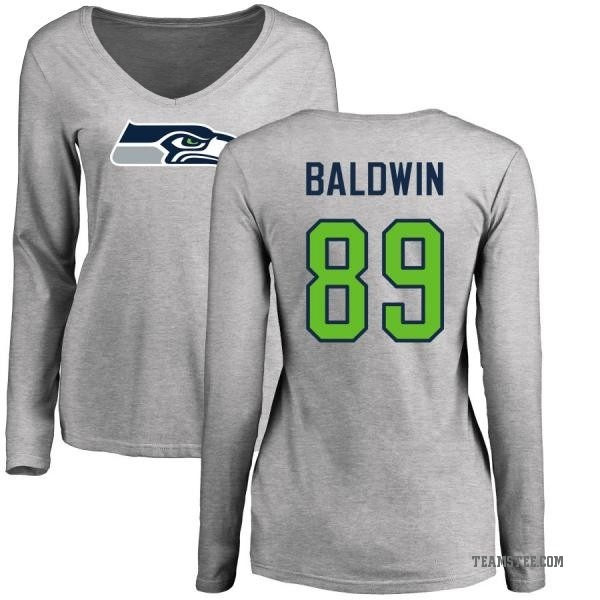 quality design b99b0 8e9bc Women's Doug Baldwin Seattle Seahawks Name & Number Logo Slim Fit Long  Sleeve T-Shirt - Ash - Teams Tee