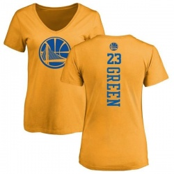 Women's Draymond Green Golden State Warriors Gold One Color Backer Slim-Fit V-Neck T-Shirt
