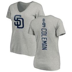 Women's Dusty Coleman San Diego Padres Backer Slim Fit T-Shirt - Ash