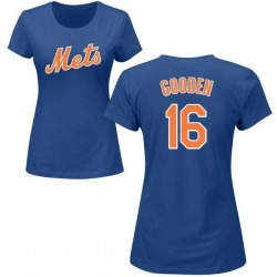 Women's Dwight Gooden New York Mets Roster Name & Number T-Shirt - Royal