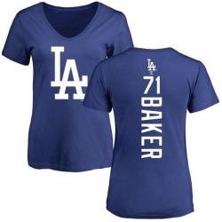 Women's Dylan Baker Los Angeles Dodgers Backer Slim Fit T-Shirt - Royal