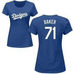 Women's Dylan Baker Los Angeles Dodgers Roster Name & Number T-Shirt - Royal