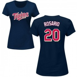 Women's Eddie Rosario Minnesota Twins Roster Name & Number T-Shirt - Navy