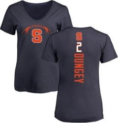 Women's Eric Dungey Syracuse Orange Football Backer V-Neck T-Shirt - Navy