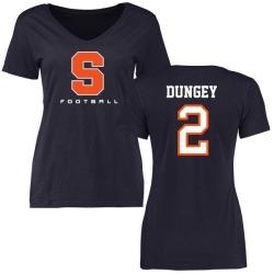 Women's Eric Dungey Syracuse Orange Football Slim Fit T-Shirt - Navy