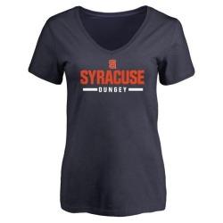 Women's Eric Dungey Syracuse Orange Sport V-Neck T-Shirt - Navy