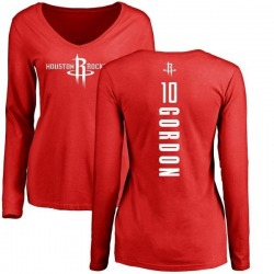 Women's Eric Gordon Houston Rockets Red Backer Long Sleeve T-Shirt