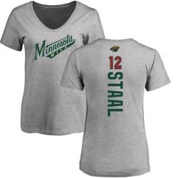 Women's Eric Staal Minnesota Wild Backer T-Shirt - Ash