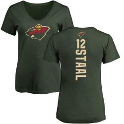 Women's Eric Staal Minnesota Wild Backer T-Shirt - Green