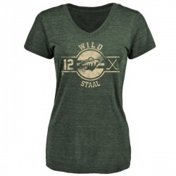 Women's Eric Staal Minnesota Wild Insignia Tri-Blend T-Shirt - Green
