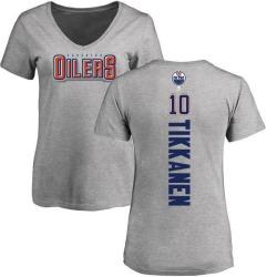 Women's Esa Tikkanen Edmonton Oilers Backer T-Shirt - Ash