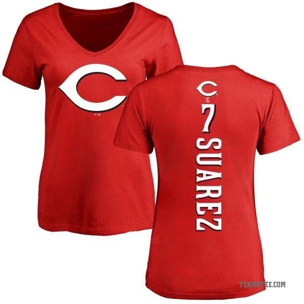 detailed look f5787 d5576 Women's Eugenio Suarez Cincinnati Reds Backer Slim Fit T-Shirt - Red -  Teams Tee