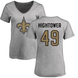 Women's Forrest Hightower New Orleans Saints Name & Number Logo Slim Fit T-Shirt - Ash