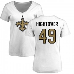 Women's Forrest Hightower New Orleans Saints Name & Number Logo Slim Fit T-Shirt - White