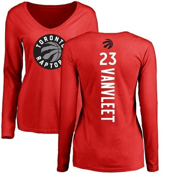 86e438a0f4e Women s Fred VanVleet Toronto Raptors Red Backer Long Sleeve T-Shirt ...