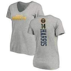 Women's Gary Harris Denver Nuggets Ash Backer T-Shirt
