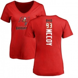 Women's Gerald McCoy Tampa Bay Buccaneers Backer Slim Fit T-Shirt - Red