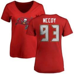 Women's Gerald McCoy Tampa Bay Buccaneers Name & Number Logo Slim Fit T-Shirt - Red