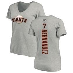 Women's Gorkys Hernandez San Francisco Giants Backer Slim Fit T-Shirt - Ash