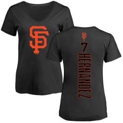 Women's Gorkys Hernandez San Francisco Giants Backer Slim Fit T-Shirt - Black