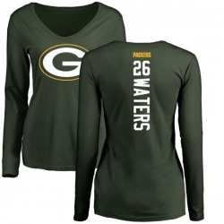 Women's Herb Waters Green Bay Packers Backer Slim Fit Long Sleeve T-Shirt - Green
