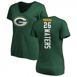 Women's Herb Waters Green Bay Packers Backer Slim Fit T-Shirt - Green
