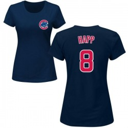 Women's Ian Happ Chicago Cubs Roster Name & Number T-Shirt - Navy