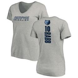 Women's Ivan Rabb Memphis Grizzlies Ash Backer T-Shirt