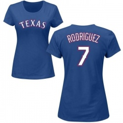 Women's Ivan Rodriguez Texas Rangers Roster Name & Number T-Shirt - Royal