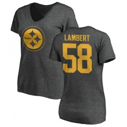 32f19f42d Men s Jack Lambert Pittsburgh Steelers Black Distressed Name ...