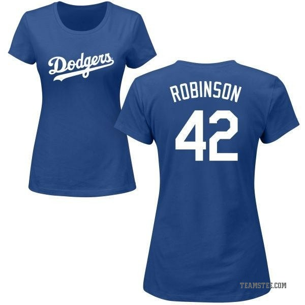 new products 83e3b f9e17 Women's Jackie Robinson Los Angeles Dodgers Roster Name & Number T-Shirt -  Royal - Teams Tee