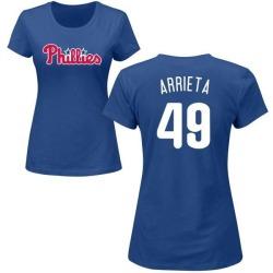Women's Jake Arrieta Philadelphia Phillies Roster Name & Number T-Shirt - Royal