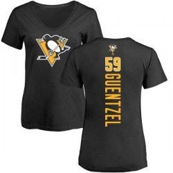 Women's Jake Guentzel Pittsburgh Penguins Backer T-Shirt - Black