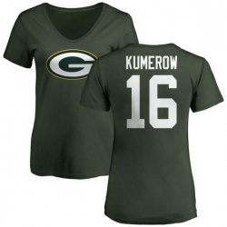 factory authentic 2a8c6 a22b4 Men's Jake Kumerow Green Bay Packers Name & Number Logo T ...