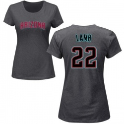 Women's Jake Lamb Arizona Diamondbacks Roster Name & Number T-Shirt - Charcoal