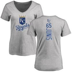 Women's Jakob Junis Kansas City Royals Backer Slim Fit T-Shirt - Ash