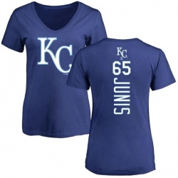 Women's Jakob Junis Kansas City Royals Backer Slim Fit T-Shirt - Royal