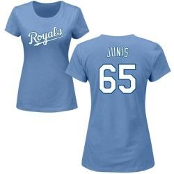 Women's Jakob Junis Kansas City Royals Roster Name & Number T-Shirt - Light Blue