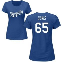 Women's Jakob Junis Kansas City Royals Roster Name & Number T-Shirt - Royal