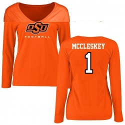 Women's Jalen McCleskey Oklahoma State Cowboys Football Long Sleeve T-Shirt - Orange