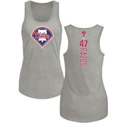 Women's James Pazos Philadelphia Phillies Backer Tri-Blend Tank Top - Ash