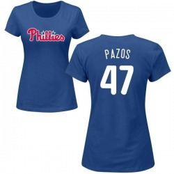Women's James Pazos Philadelphia Phillies Roster Name & Number T-Shirt - Royal