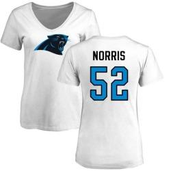 Women's Jared Norris Carolina Panthers Name & Number Logo Slim Fit T-Shirt - White