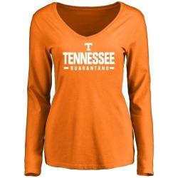 Women's Jarrett Guarantano Tennessee Volunteers Sport Wordmark Long Sleeve T-Shirt - Tennessee Orange